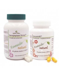 Lot curcumin 99 et serrapeptase strong