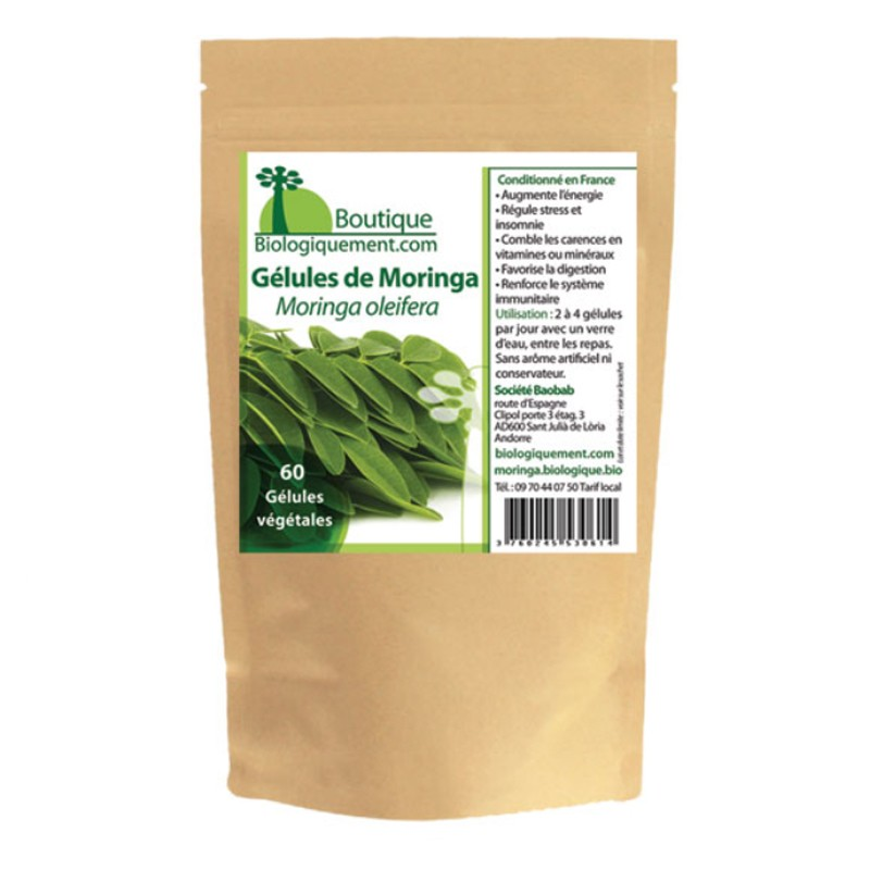 Moringa leaves in capsules