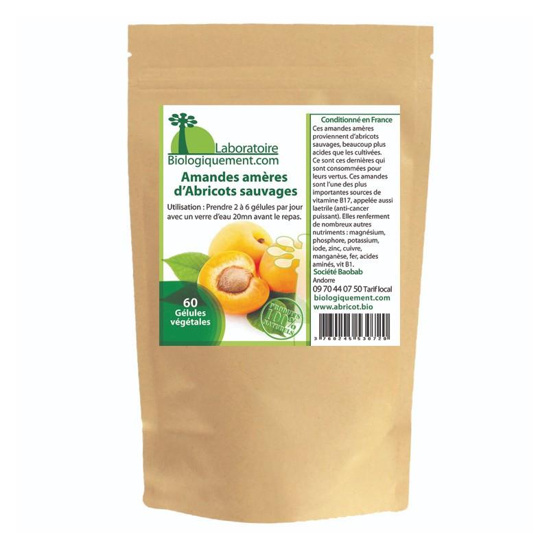 Bittere Mandeln von Aprikosenkernen in Kapsel