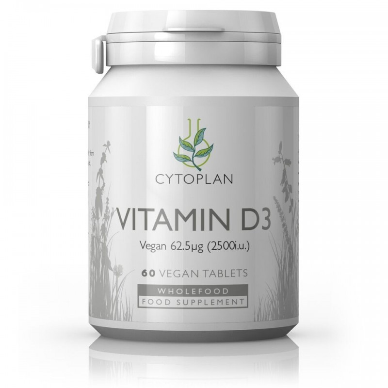 Vitamin D3 - 60 Vegan Vegetable Tablets